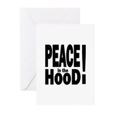 PEACE IN THE HOOD Greeting Cards (Pk of 10)