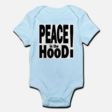 PEACE IN THE HOOD Infant Creeper