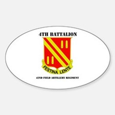 DUI - 4th Bn - 42nd FA Regt with Text Decal