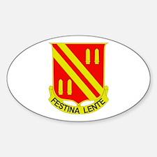 DUI - 4th Bn - 42nd FA Regt Sticker (Oval)