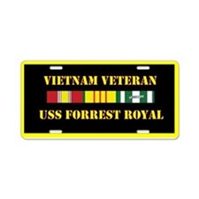USS Forrest Royal Aluminum License Plate
