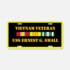 USS Ernest G Small Aluminum License Plate