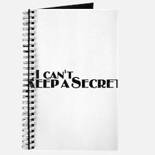 I Can't Keep a Secret (font) Journal