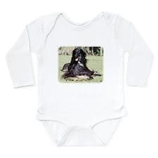 Afghan Hound AA017D-115 Long Sleeve Infant Bodysui