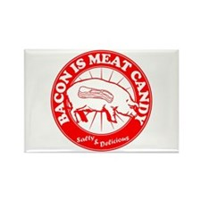 Bacon Is Meat Candy Rectangle Magnet (10 pack)