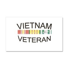 Unique Vietnam veteran Car Magnet 20 x 12