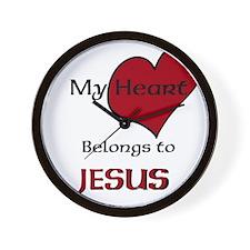 My heart belongs to JESUS Wall Clock