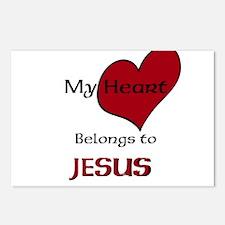 My heart belongs to JESUS Postcards (Package of 8)