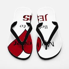 My heart belongs to JESUS Flip Flops