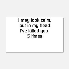 Cute Humor Car Magnet 20 x 12