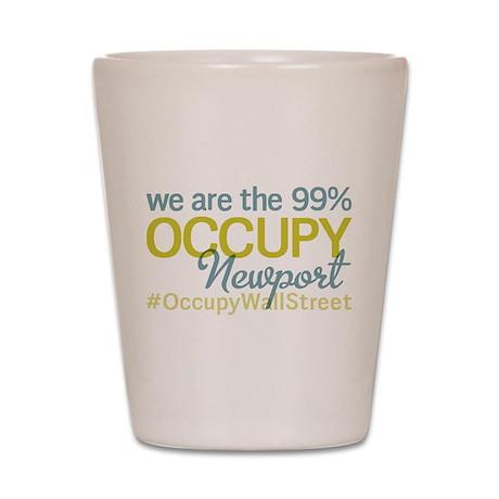 Occupy Newport Shot Glass