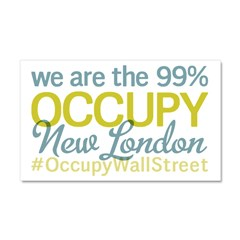 Occupy New London Car Magnet 20 x 12
