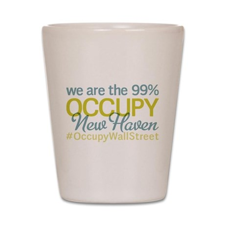Occupy New Haven Shot Glass