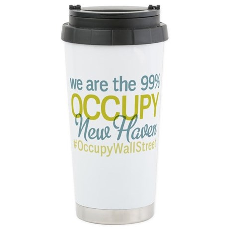 Occupy New Haven Stainless Steel Travel Mug