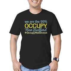 Occupy New Bedford Men's Fitted T-Shirt (dark)