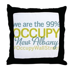 Occupy New Albany Throw Pillow