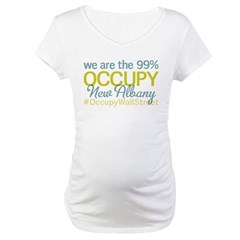 Occupy New Albany Maternity T-Shirt