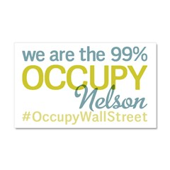 Occupy Nelson Car Magnet 20 x 12