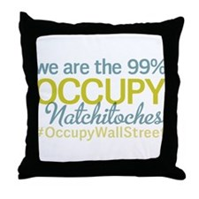 Occupy Natchitoches Throw Pillow
