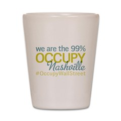 Occupy Nashville Shot Glass