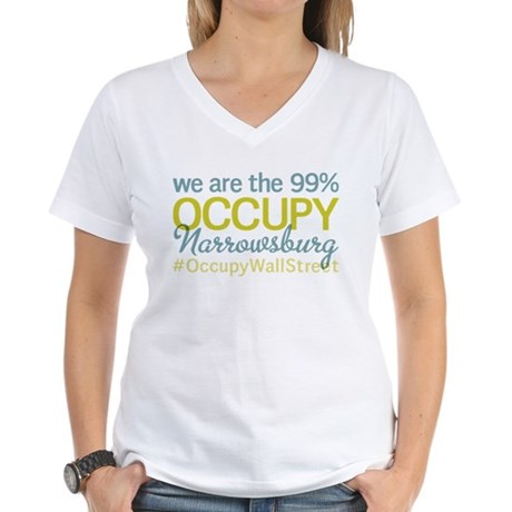Occupy Narrowsburg Women's V-Neck T-Shirt