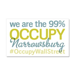 Occupy Narrowsburg Car Magnet 20 x 12