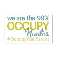 Occupy Nantes Car Magnet 20 x 12