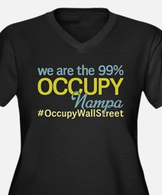 Occupy Nampa Women's Plus Size V-Neck Dark T-Shirt