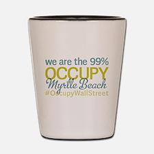 Occupy Myrtle Beach Shot Glass