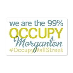 Occupy Morganton Car Magnet 20 x 12