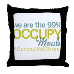 Occupy Moab Throw Pillow