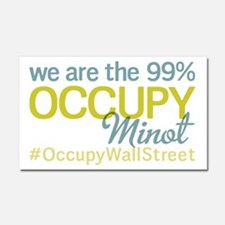 Occupy Minot Car Magnet 20 x 12