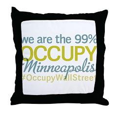 Occupy Minneapolis Throw Pillow