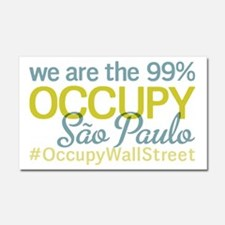 Occupy Sao Paulo Car Magnet 20 x 12