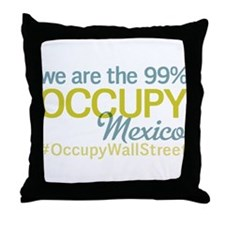 Occupy Mexico Throw Pillow