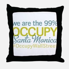 Occupy Santa Monica Throw Pillow