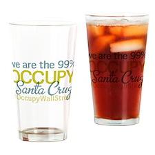 Occupy Santa Cruz Drinking Glass