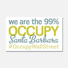 Occupy Santa Barbara Car Magnet 20 x 12