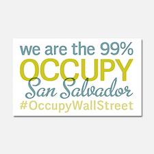 Occupy San Salvador Car Magnet 20 x 12