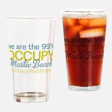 Occupy Mastic Beach Drinking Glass