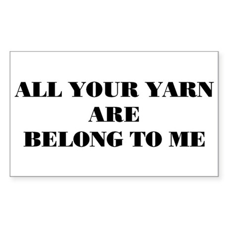 yarn Rectangle Sticker