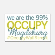 Occupy Magdeburg Car Magnet 20 x 12