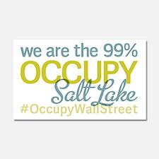 Occupy Salt Lake City Car Magnet 20 x 12