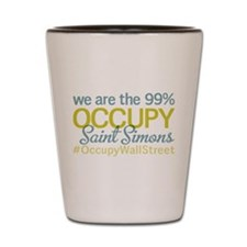 Occupy Saint Simons Island Shot Glass