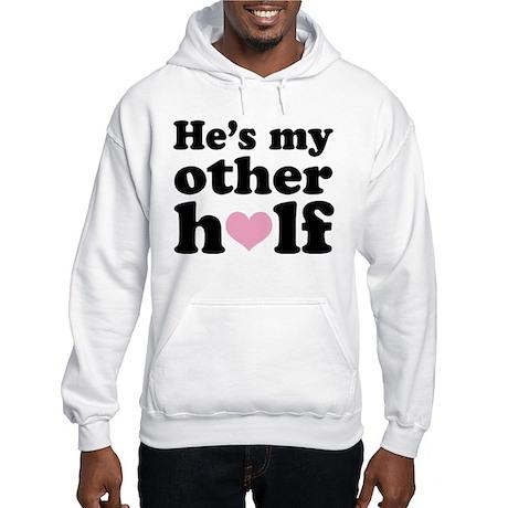 Couples He's My Other Half Hooded Sweatshirt