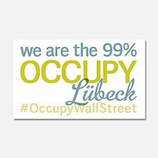 Occupy Lübeck Car Magnet 20 x 12