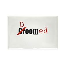 Funny wedding groom/doomed Rectangle Magnet