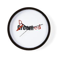 Funny wedding groom/doomed Wall Clock