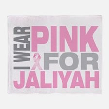 I wear pink for Jaliyah Throw Blanket