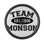 Team Monson Large Wall Clock